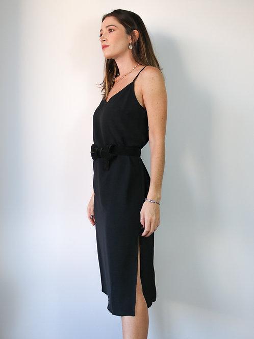 Vestido Midi Isabel Preto