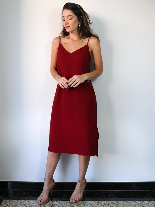 Vestido Midi Isabel Bordô