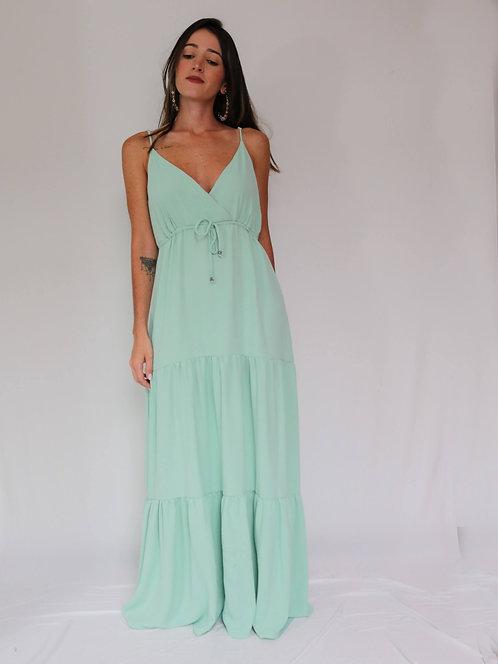 Vestido Longo Carmen Verde