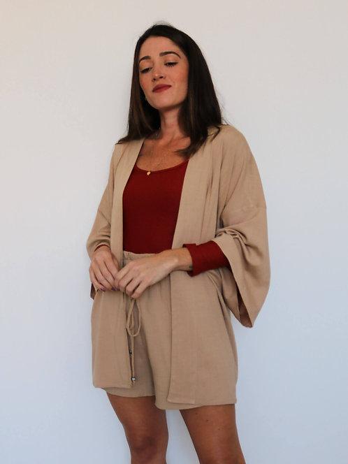 Kimono Curto Visco Slub