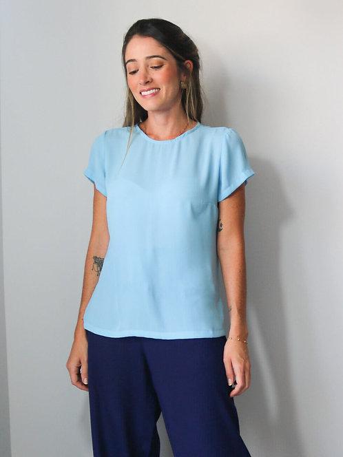 Blusa Fiorella Azul Sky