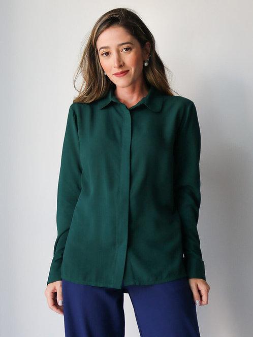 Camisa Cris Verde Esmeralda