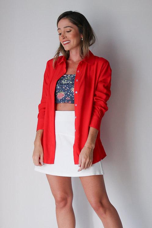 Camisa Cris Vermelho Rubi