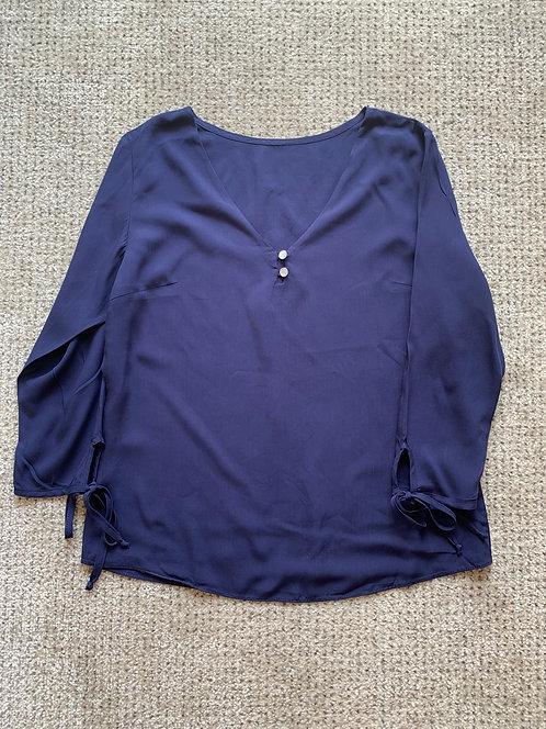 Blusa 3/4 decote botões