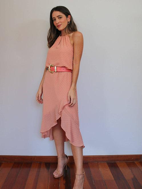 Vestido Midi Raquel Soft Coral