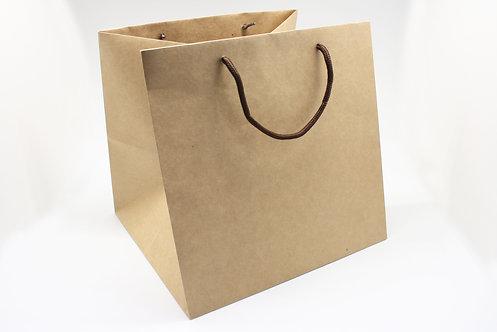 ロゴ・名入れオーダー紙袋(茶色・ケーキ用)