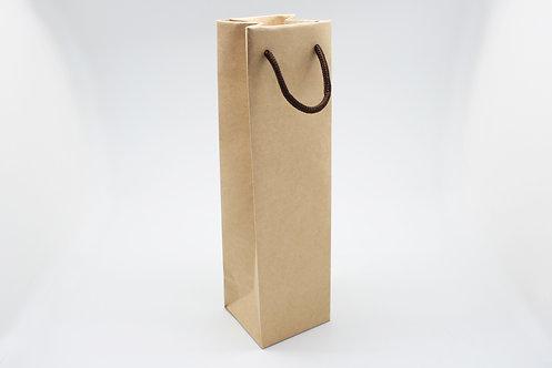 ロゴ・名入れオーダー紙袋(茶色・ワイン用)