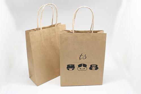 ロゴ・名入れオーダー紙袋(茶色)