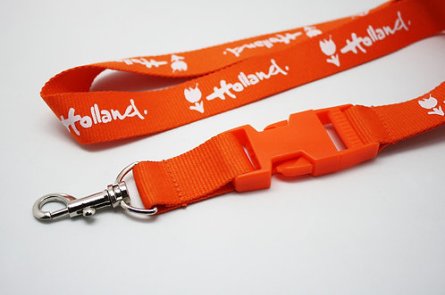 Metal Hook Lanyard with Safety Clip