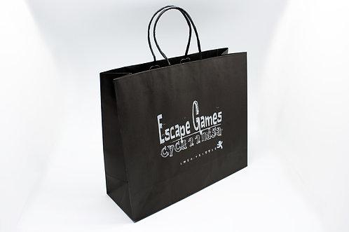 ロゴ・名入れオーダー紙袋(黒)