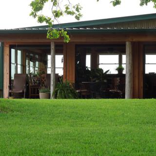 Patio overlooking gardens