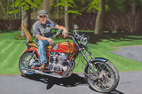 Mike On His Bike