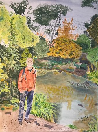 Japanese garden with Jeffrey
