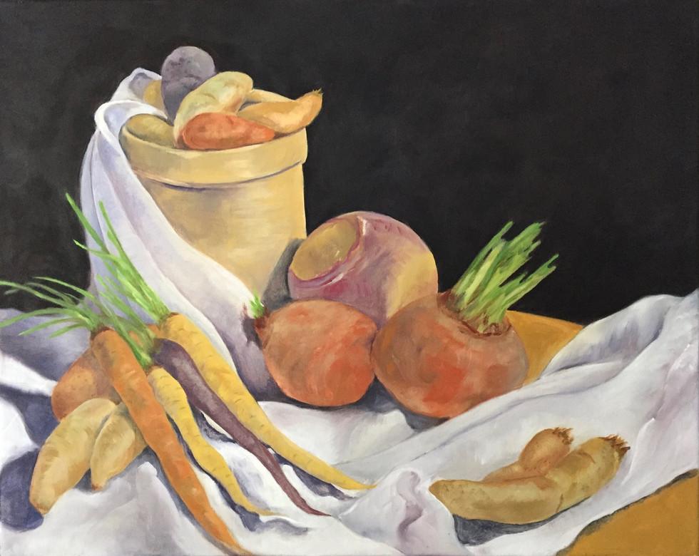 Still Life with Potatoes, Beets, a Rutabaga and Carrots
