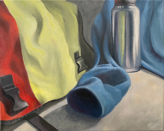 Still Life with Water Bottle