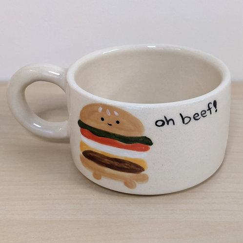 a-ok ceramics: oh beef! mug