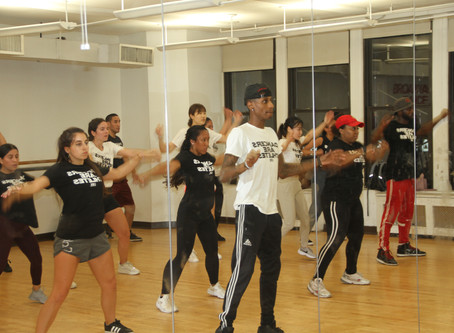 Learning how to dance hip hop
