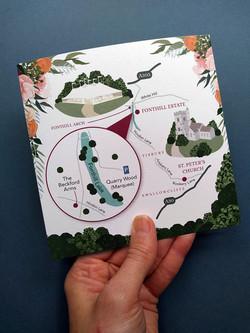 Wedding Map to Fonthill Estate