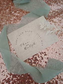 Modern, simple, rustic save the date