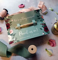 save date pencil postcard floral flowers wedding pennard house november autumn winter illu