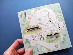 Wedding Map to Pythouse Kitchen Garden, Tisbury