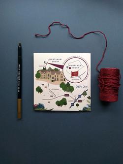 Wedding Map to Huntsham Court