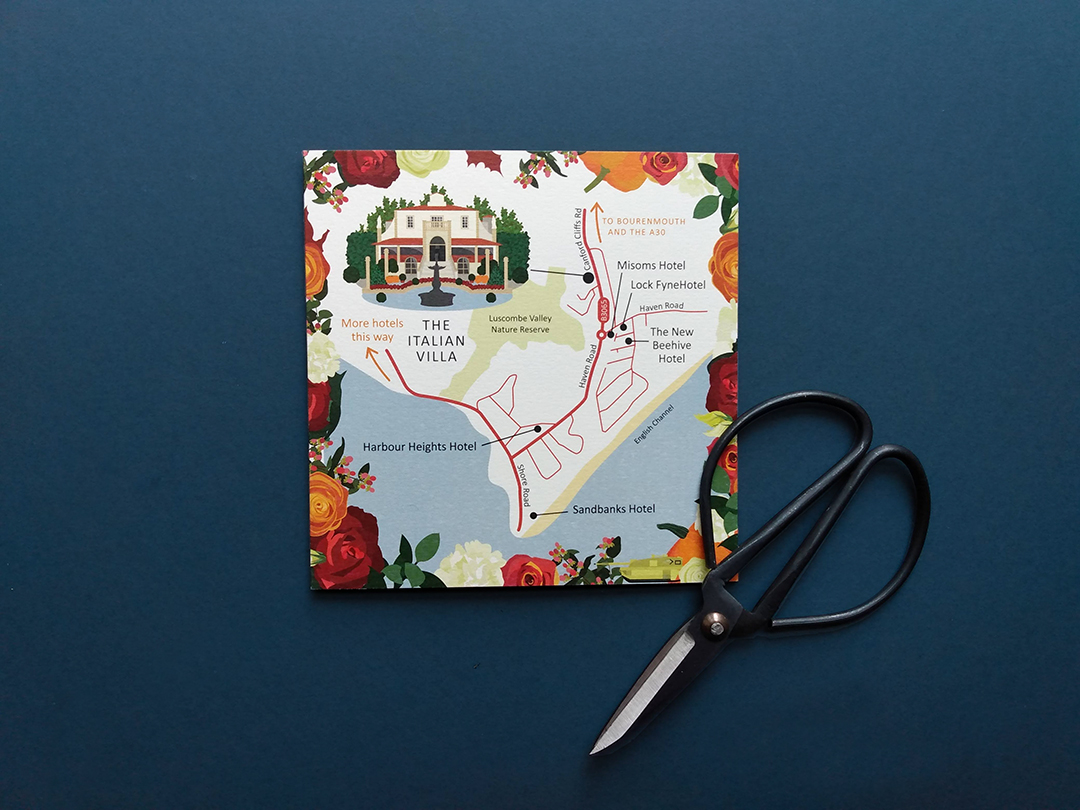 Wedding Map to The Italian Villa