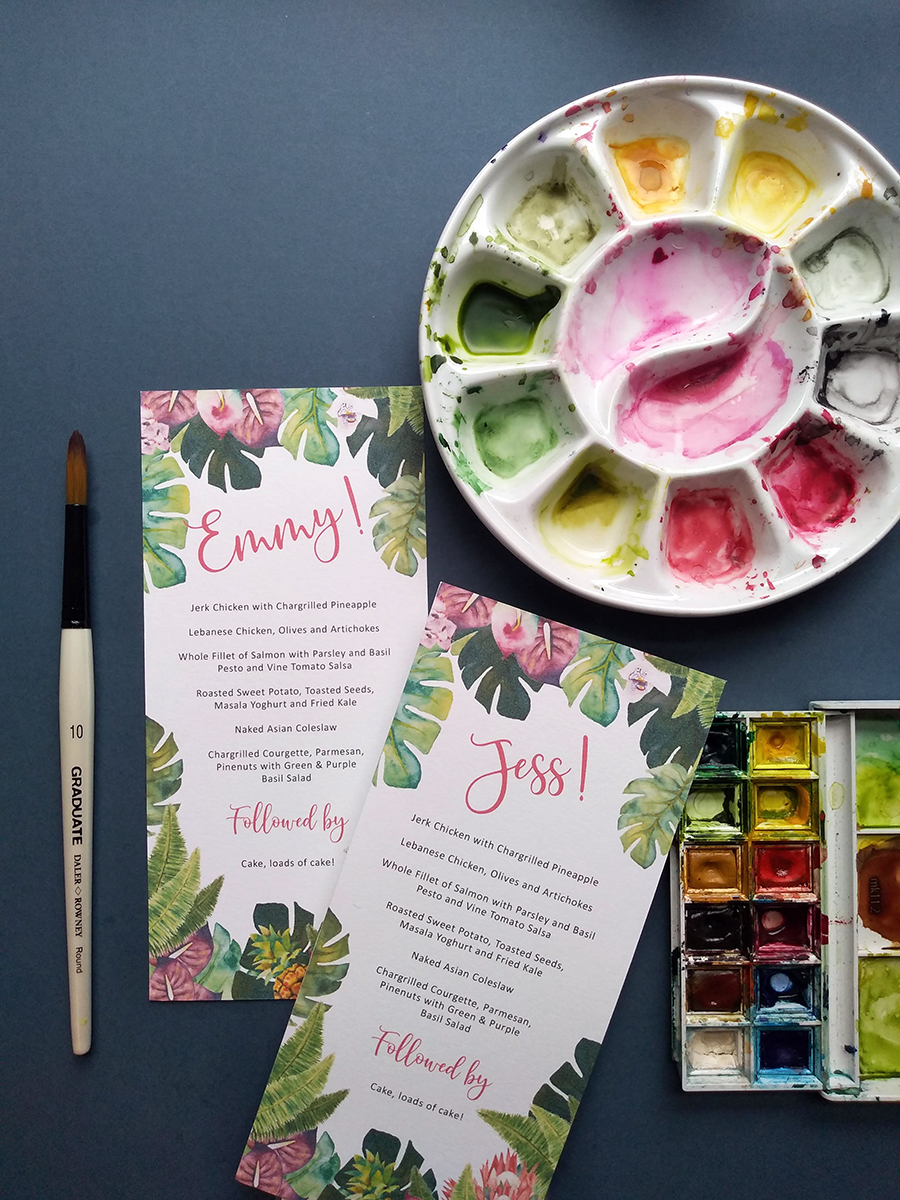 Colourful, Hand-Painted Stationery