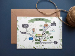Wedding Map to Rook Lane Chapel and The Silk Mill, Frome