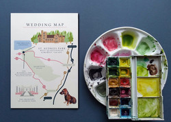 Wedding map to St. Audries Park
