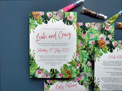 Hand-Painted Topical Invitations