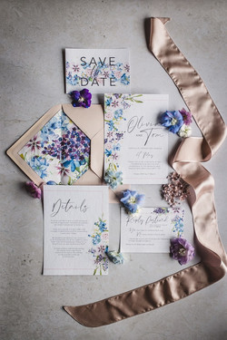 Floral, pretty and romantic stationery sets