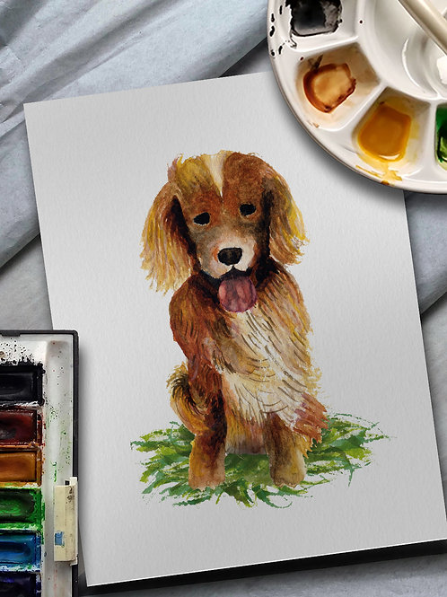 Bespoke Pet Portrait - watercolour