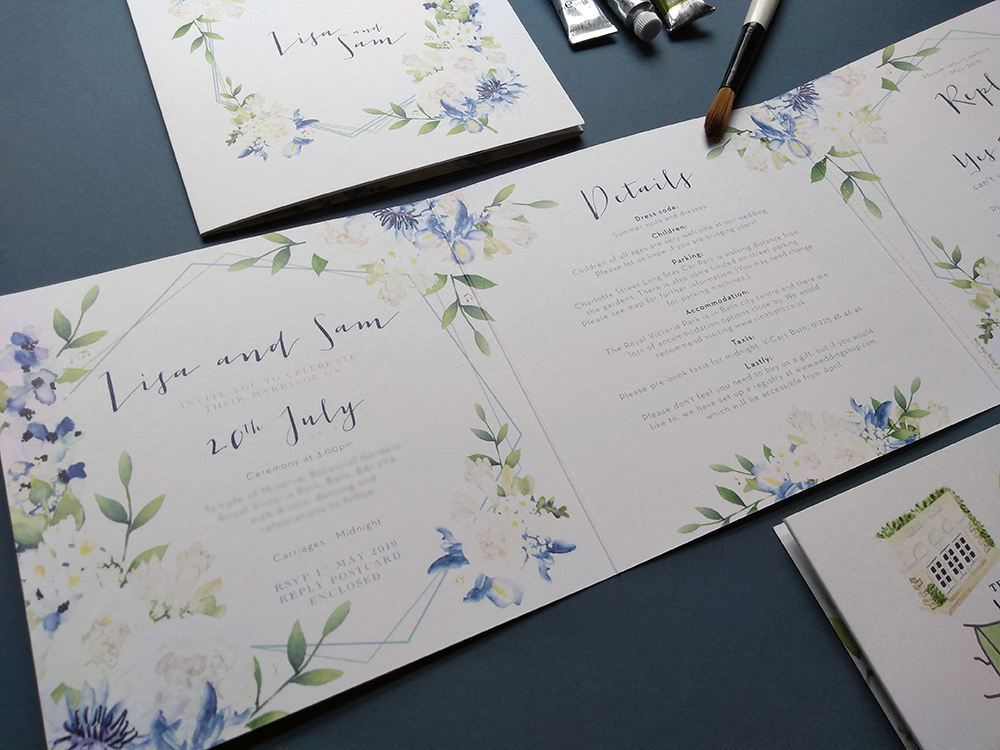 Hand-Painted Watercolour Stationery