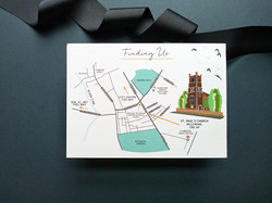 Wedding Map to St Paul's Church, Cambridge