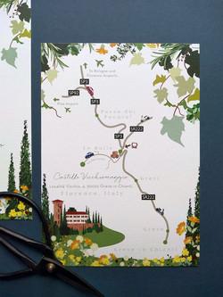 Wedding Map, Florence, Italy