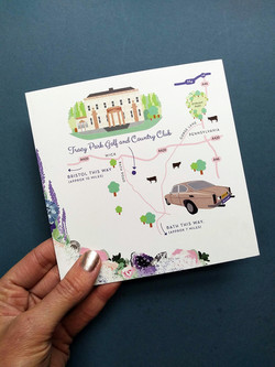 Wedding Map to Tracy Park Golf and Country Club