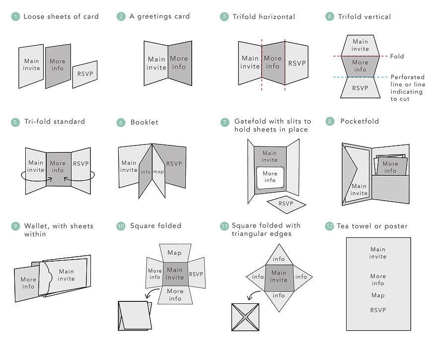 Wedding invitations invites illustrated