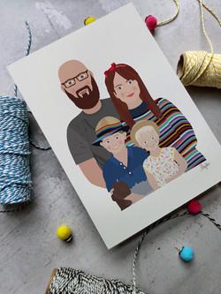 cartoon family couple Frome Bath fiance