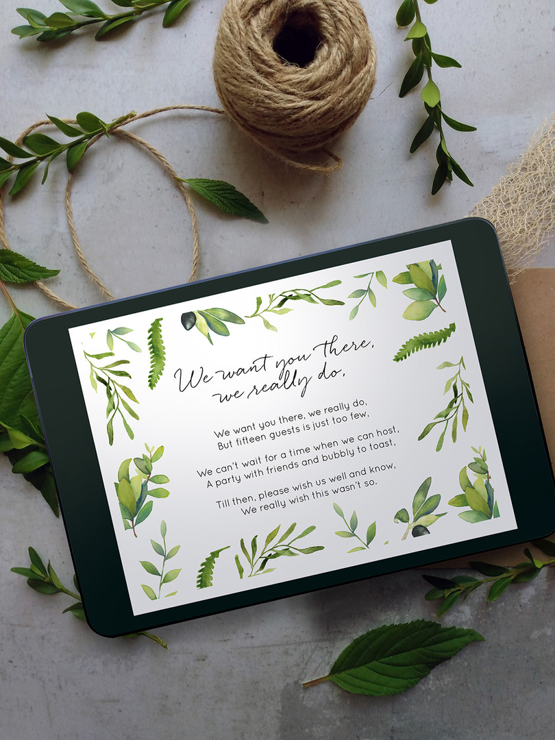 Small Wedding Graphic for Email