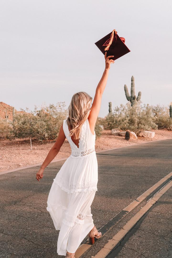 desert graduation photo