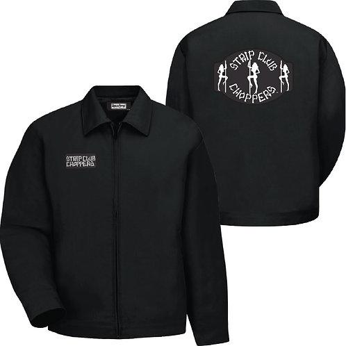 Men's SCC Classic Logo Hip-Length Black Shop Jacket