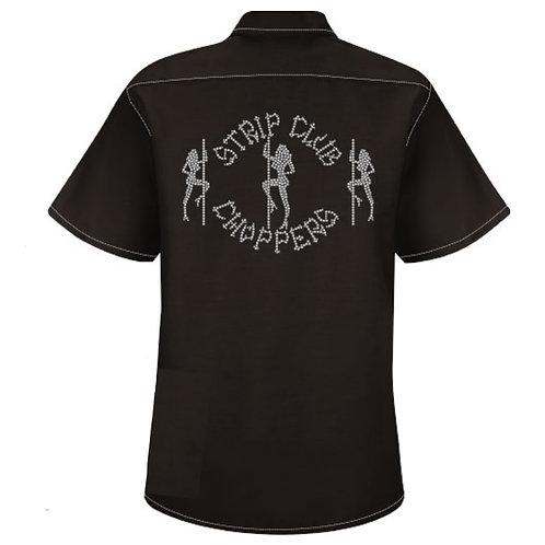 Women's SCC Rhinestone Mechanic-Style Shop Shirt