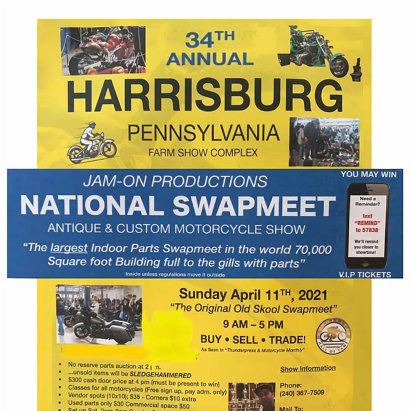34th Annual Jam-On Productions National Swap Meet Harrisburg
