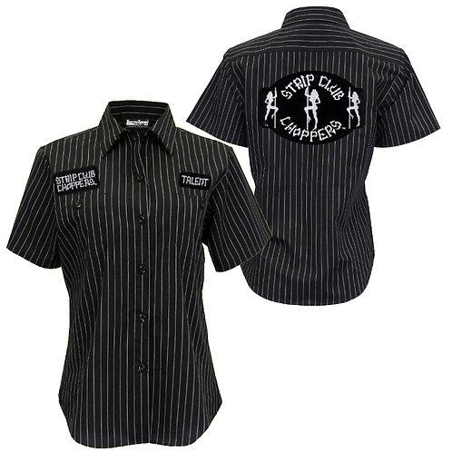 Women's SCC Pinstriped Mechanic-Style Shop Shirt