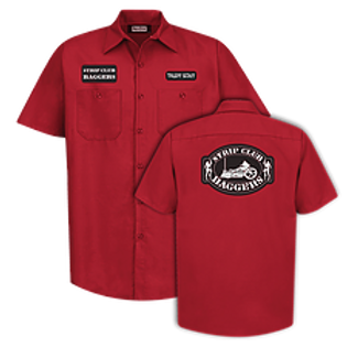 Men's Short Sleeve SCB Red Mechanic Style Shop Shirt