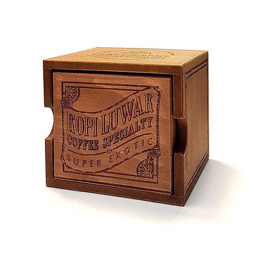 Кофе Копи Лювак, в зернах, средняя обжарка, в деревянной шкатулке