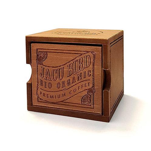 Кофе Жаку Берд, в зернах, средняя обжарка, в деревянной шкатулке