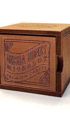 Кофе Гейша Хани, в зернах, средняя обжарка, в деревянной шкатулке