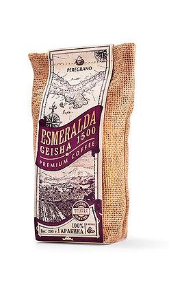 Кофе Эсмеральда Гейша 1500, в зернах, темная обжарка, упаковка 200 г
